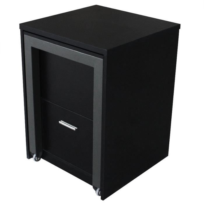 commode bureau charly noir achat vente commode semainier commode bureau charly noir. Black Bedroom Furniture Sets. Home Design Ideas