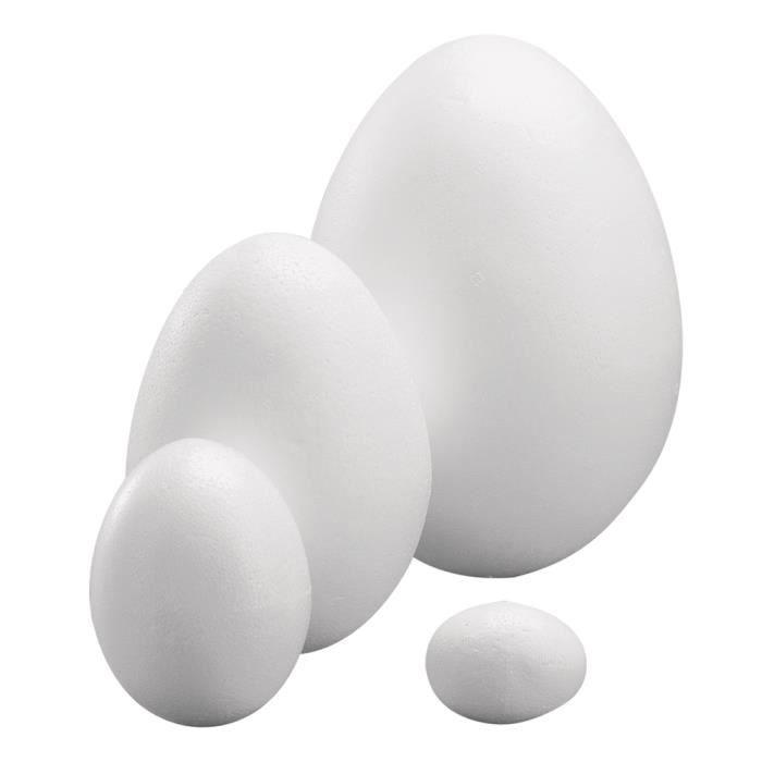 Lot de 30 Oeufs de poule de 6 cm de haut en polystyr/ène plein