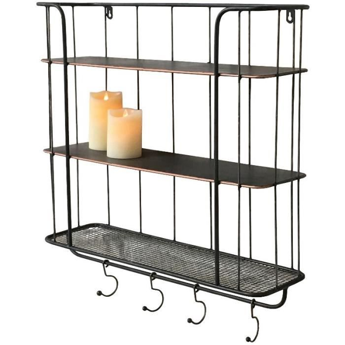 etagere metallique longueur 60 cm. Black Bedroom Furniture Sets. Home Design Ideas