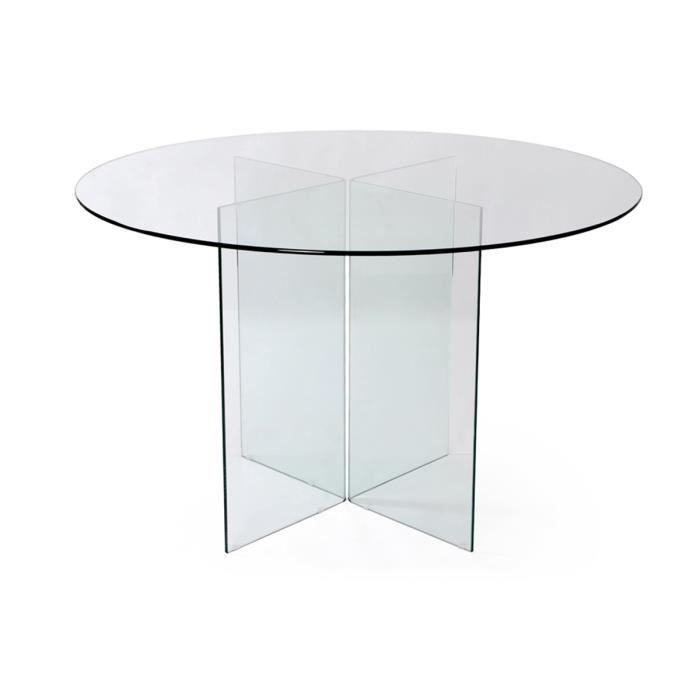 table de repas ronde en verre transparent vitra achat. Black Bedroom Furniture Sets. Home Design Ideas