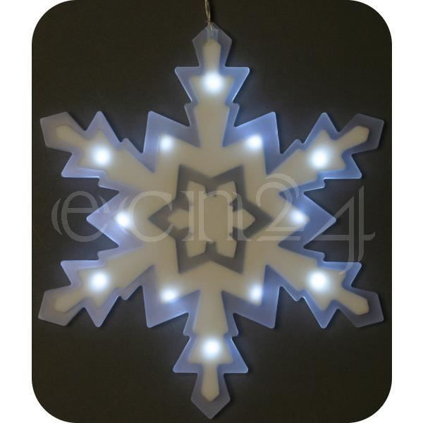 Flocon neige led d co fen tre aliment par piles achat for Led a pile pour deco