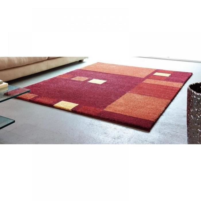 samoa design tapis patchwork bordeaux et orange achat vente tapis cdiscount. Black Bedroom Furniture Sets. Home Design Ideas