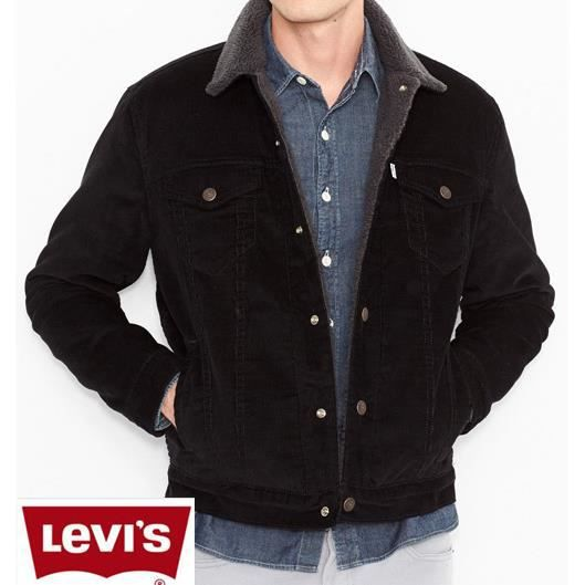 blouson jean levis col fourrure noir achat vente blouson blouson jean levis col four. Black Bedroom Furniture Sets. Home Design Ideas