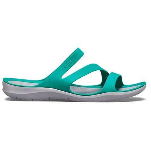 Femmes Fit Crocs Vert Swiftwater Standard Tropical Teal En Sandales cRqS4L5A3j