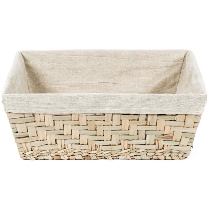 compactor panier de rangement fiesta grand mod le beige achat vente casier pour meuble jonc. Black Bedroom Furniture Sets. Home Design Ideas