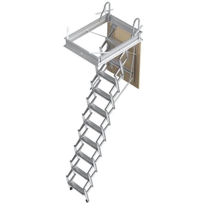 Ouverture du plafond de 70 x 100cm Echelle escamotable bois