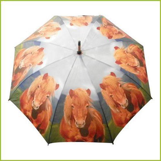 """poney Automatique Parapluie /""""de.. écureuil.../"""" canne parapluie loup"""