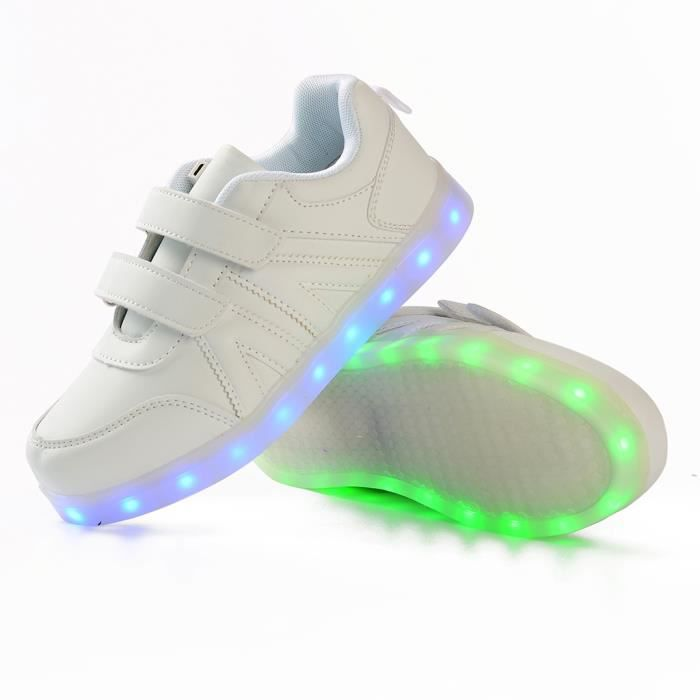 Chaussure Led Enfants Gar?on Filles -Colorful Chaussure Lumineuse -Recharge USB