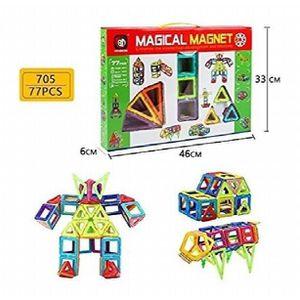 ASSEMBLAGE CONSTRUCTION Jeu D'Assemblage Xinbida magique Magnet-77pcs bloc