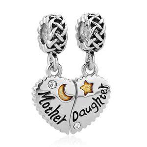 Charms pour bracelet pandora mere fille