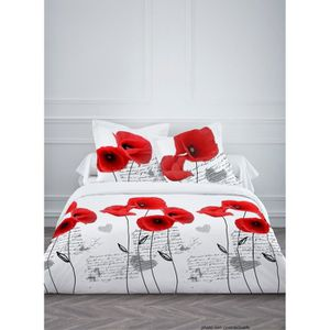 taie oreiller coquelicot achat vente taie oreiller. Black Bedroom Furniture Sets. Home Design Ideas