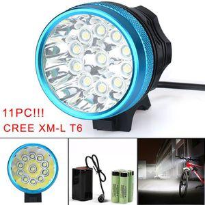 LAMPE DE POCHE 28000LM 11 x CREE XM-L T6 LED 6 x 18650 vélo vélo