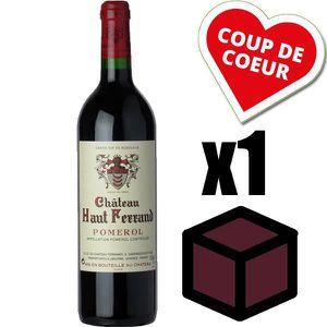 VIN ROUGE Château Haut Ferrand 2010 Rouge 75 cl AOC Pomerol