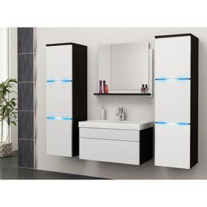 SALLE DE BAIN COMPLETE Salle de bain complète LUNA wengé et blanc  mat +