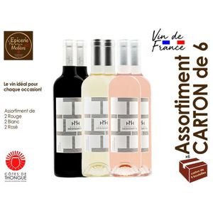 ASSORTIMENT VIN Assortiment Vins Blanc, Rosé et Rouge 2018 - IGP C