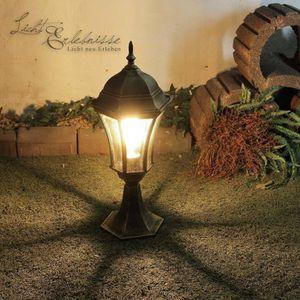 LAMPE DE JARDIN  Lampe piédestal en aluminium à l'extérieur H: lamp