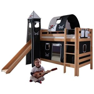 lit toboggan achat vente lit toboggan pas cher. Black Bedroom Furniture Sets. Home Design Ideas