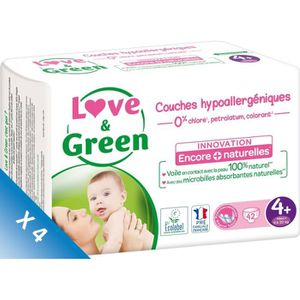 COUCHE LOVE AND GREEN Couches Pack 1 mois T4+ 4x42 - 168