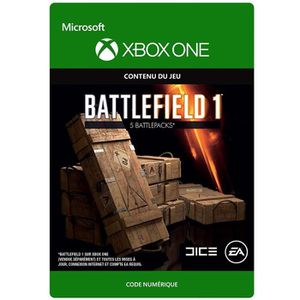 EXTENSION - CODE DLC Battlefield 1: 5 Battlepacks pour Xbox One