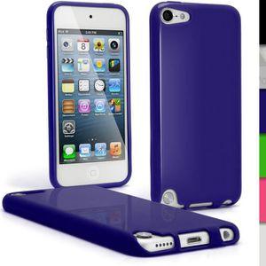 COQUE MP3-MP4 igadgitz Bleu Étui TPU Brilliant pour Apple iPod T