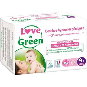 COUCHE LOVE AND GREEN Couches ecolabellisées Taille 4+ -