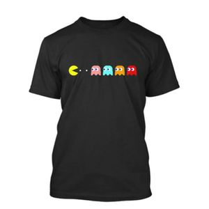 T-SHIRT Nouveau Retro Gaming Commodore Pacman & Ghosts Ata