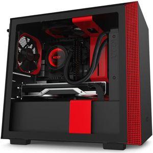 BOITIER PC  NZXT H210 Noir/Rouge - Boîtier mini tour avec fenê