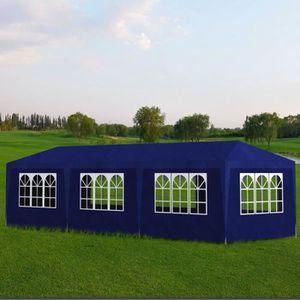 TONNELLE - BARNUM Tonnelle de jardin Tente de réception 8 murs Bleu