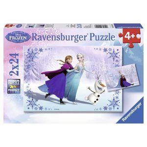 PUZZLE LA REINE DES NEIGES Puzzle Sœurs 2x24 pcs - Disney