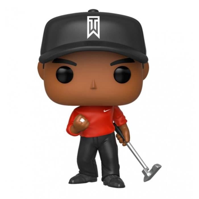 Figurine Funko Pop! Golf : Tiger Woods ( Polo Rouge )