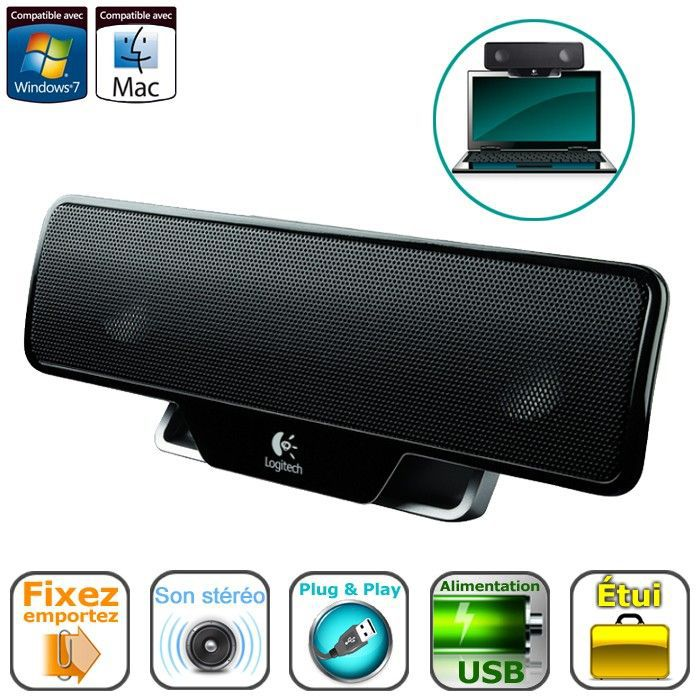 logitech laptop speaker z205 prix pas cher cdiscount. Black Bedroom Furniture Sets. Home Design Ideas