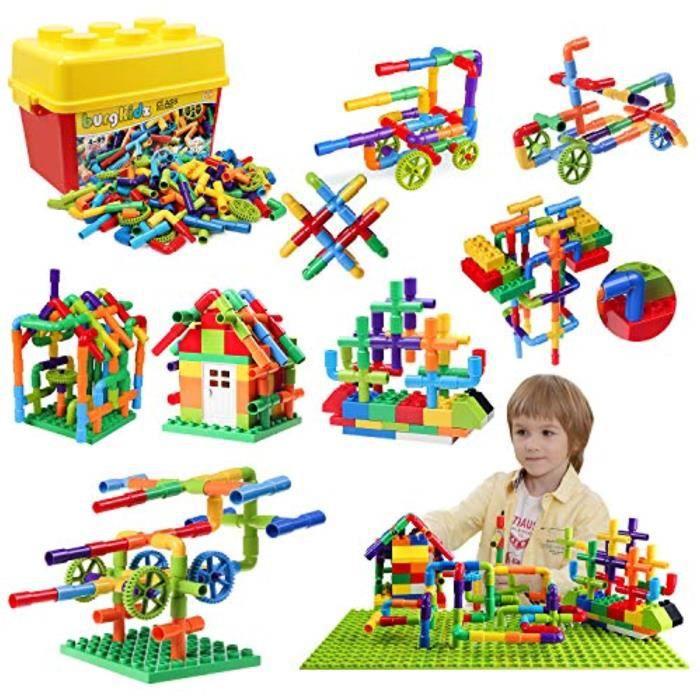 Jeu D'Assemblage ZF179 176 pièces tuyau tube bâtiment jouet blocs de construction, construction de canalisations emboîtement kit de