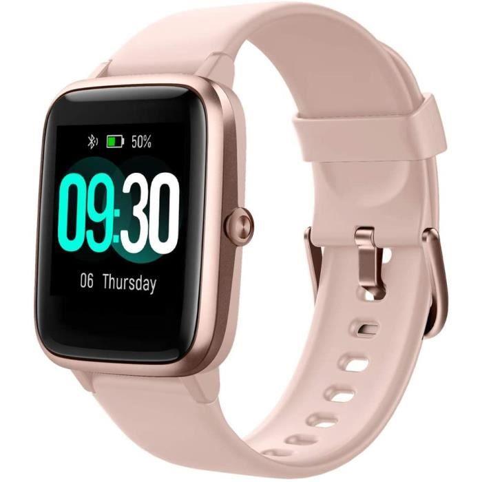 Montre Connectée Smartwatch Montre Sport Podometre Cardiofrequencemètre Etanche Natation Running Montre pour Huawei Samsung iPhone