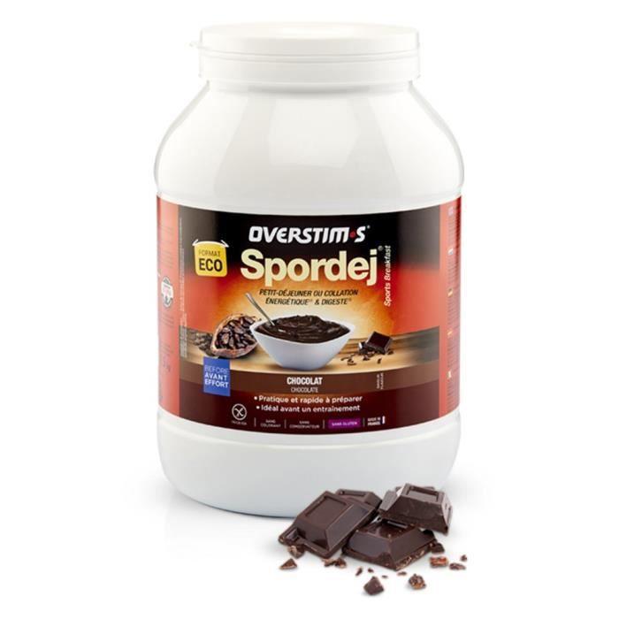 OVERSTIMS – Spordej (1,5kg) - Chocolat - Petit-déjeuner sportif énergétique avant effort