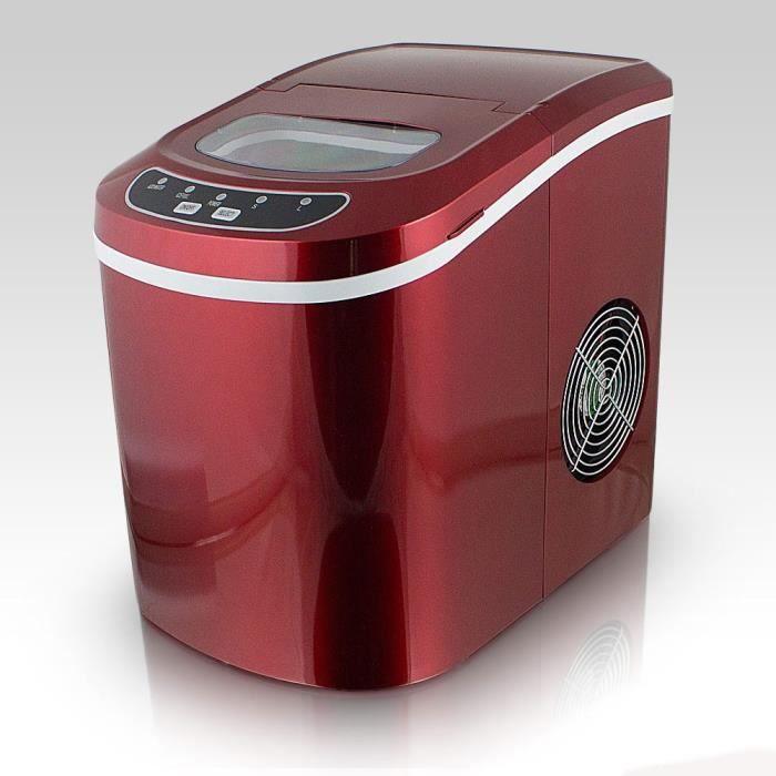 Machine à glaçons rouge - 12kg de glaçons en 24h Ice Maker . Rouge
