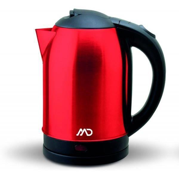 Bouilloire Inox 1.8L - Rouge - MD - MK-7920R