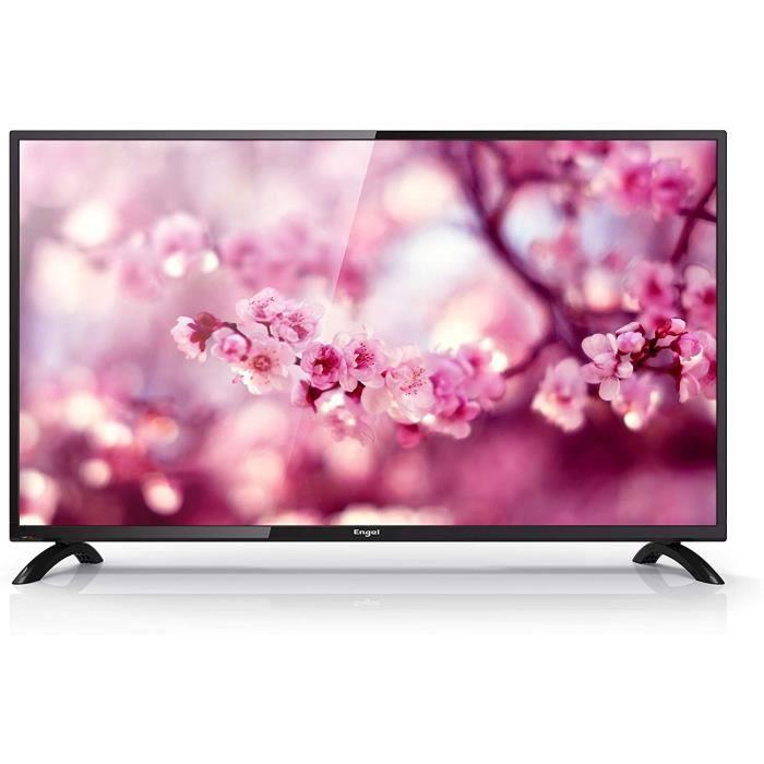 Engel 40 Pouces Le 4060 T2 Full HD TV avec TNT HD, DVB-T2, Dolby Digital Plus, PVR et Time Shift - Noir