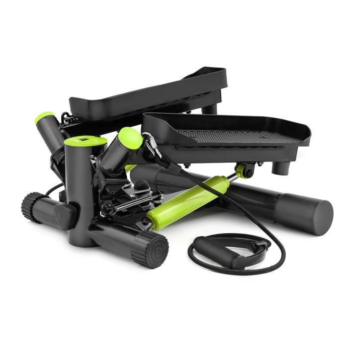 HS Hop-Sport Joy HS-035S Stepper rotatif à résistance ajustable avec sangles d'exercice Lime