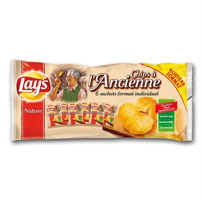 LAY'S Chips Ancienne 6x27.5gr