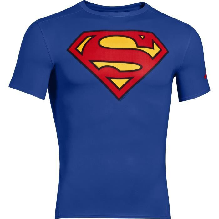 ALTER EGO T-shirt Comp Ss Superman - Homme - Bleu