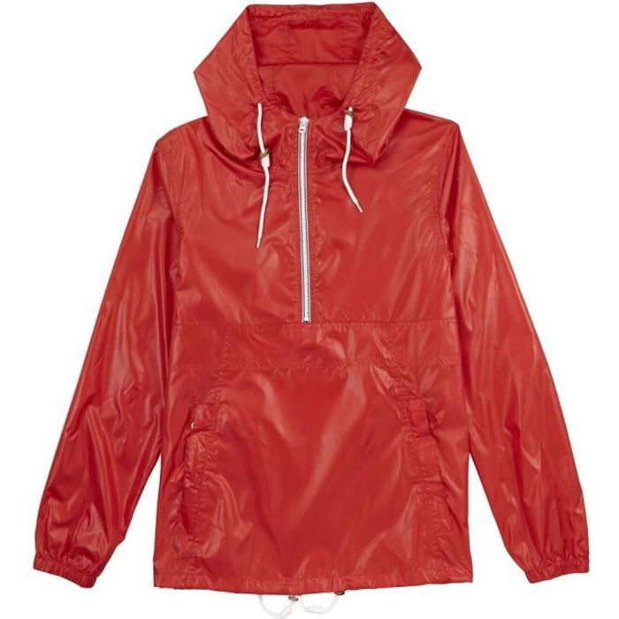 Coupe-vent imperméable Pull&Bear - Rouge