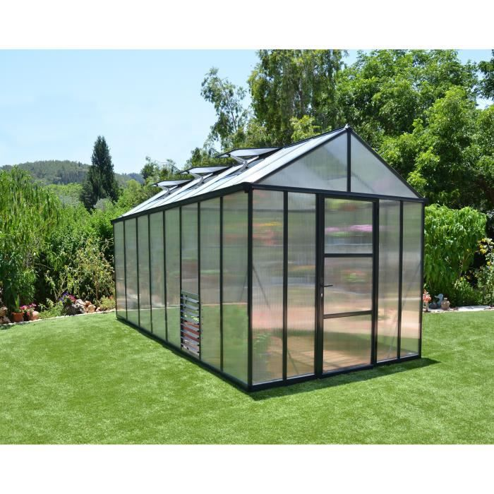 PALRAM Serre de jardin Glory 11,4 m² - Aluminium et polycarbonate - Double parois