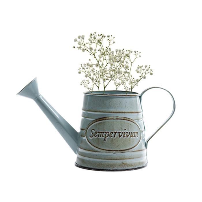 1 Pc Shabby Chic Pichet En Métal De Style Français Pot Fleur Fer Vase pour La Décoration Mariage À Maison VASE - SOLIFLORE