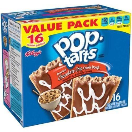 Pop-tarts Kellogg's - saveur cookies chocolat - 16 biscuits
