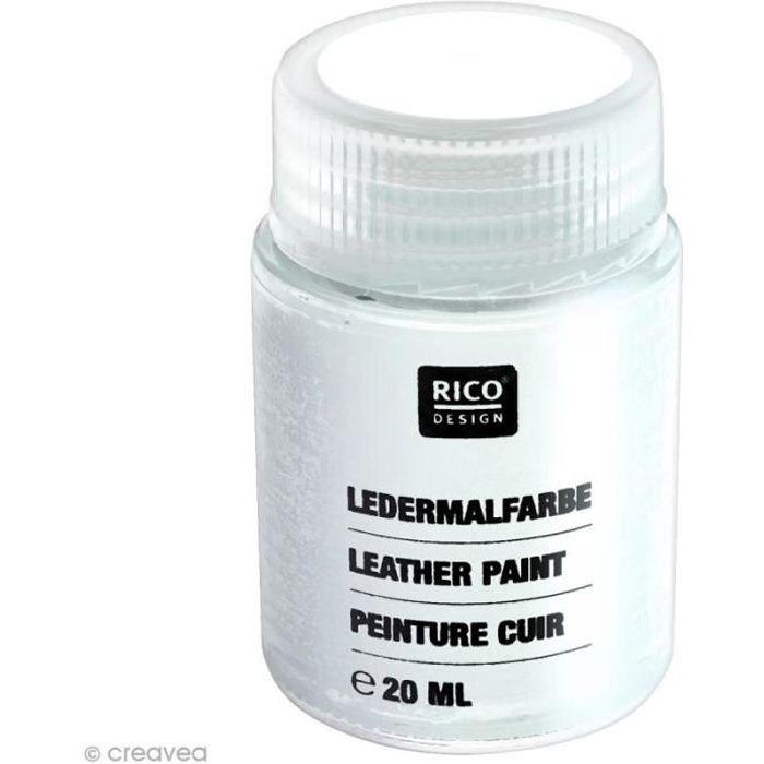 Peinture cuir - 20 ml Blanc