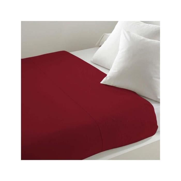 Drap plat uni 240x290 cm ATMO rouge