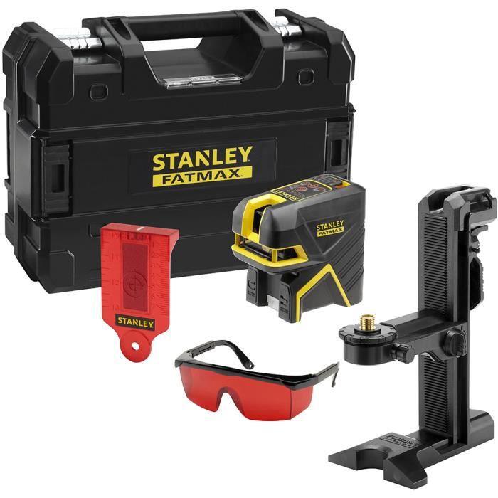 Stanley - Niveau laser multiligne Rouge portée 15 m avec accessoires - SCR-P5 ROUGE
