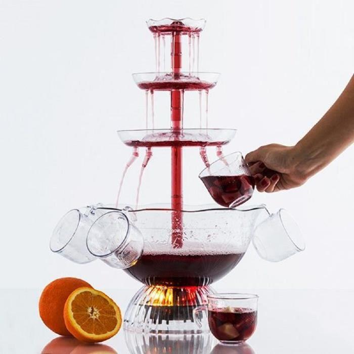 TSC - Fontaine à vin Lumineuse LED Fontaine à cocktail fontaine à vin fontaine lumineuse LED Pour mariage et céremonie