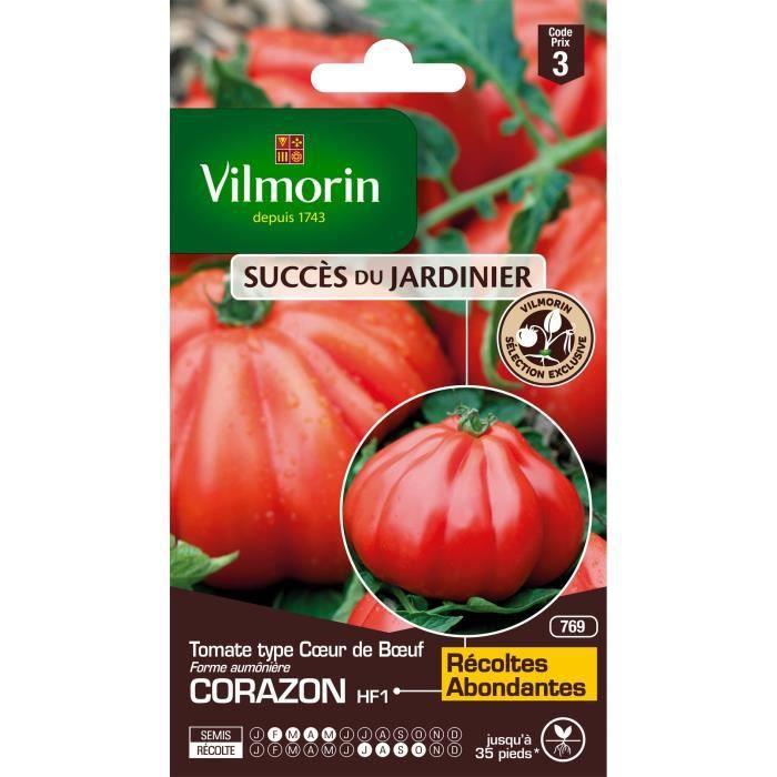 VILMORIN Tomate Cœur de Bœuf Corazon HF1 Sachet de graines - Exclusivité