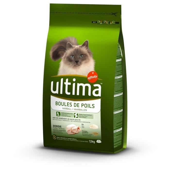 ULTIMA Croquettes dinde et riz - Pour chat - 1,5kg